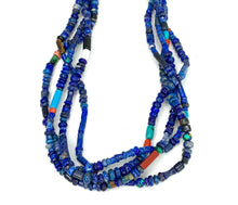 Load image into Gallery viewer, BEAUTIFUL Navajo Sterling Silver 4 Strand Native American Multi Stone necklace
