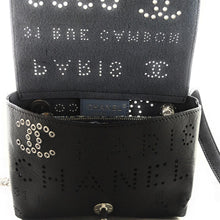 Load image into Gallery viewer, Chanel Logo Eyelets Waist Belt Flap Bag Perforated Calfskin