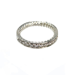 David Yurman Platinum Eden Diamond Eternity Wedding Band - 0.60ctw