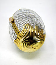 Load image into Gallery viewer, Judith Leiber Swarovski Crystal Egg Minaudiere Evening Bag