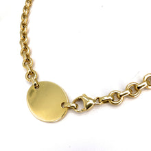 Load image into Gallery viewer, Tiffany & Co. 18K Yellow Gold Return To Tiffany Oval Tag Choker