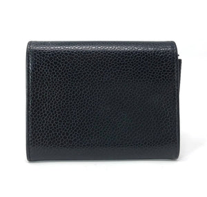 Chanel Black Caviar Leather Coin Wallet