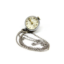 Load image into Gallery viewer, Vintage Louis Silver Tone Ladies Pendant Watch