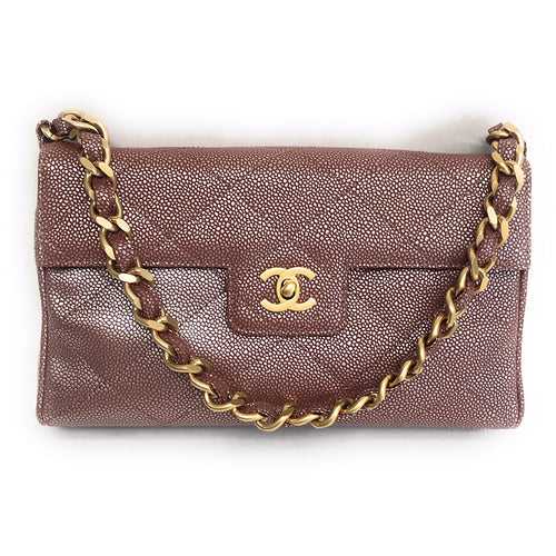 Chanel Quilted Iridescent Caviar Calfskin Flap Bag 2000-2002