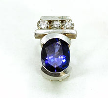 Load image into Gallery viewer, 14K White Gold 2.30ctw Tanzanite & Diamond Leverback Earrings</strong>