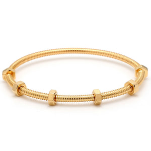 Cartier 18K Yellow Gold Ecrou De Cartier Bangle Bracelet