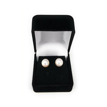 Load image into Gallery viewer, Cartier White South Sea Pearl 9mm 18K Yellow Gold Earrings