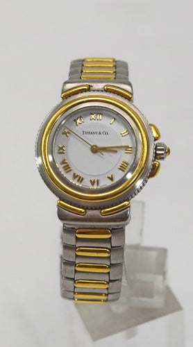 Ladie's Tiffany & Co. Stainless Steel & 18k Yellow Gold Watch