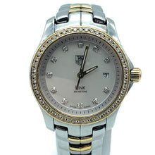 Load image into Gallery viewer, TAG Heuer Link WJF1354 Stainless Steel & 18K Gold & Diamond Bezel Watch - Women's