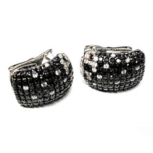 Load image into Gallery viewer, Vintage Domed 18K White Gold 1.44ctw Pavé Diamond Earrings