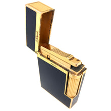 Load image into Gallery viewer, S.T. Dupont Black Lacquer and Rose Gold Trim Windsor Design Lighter - 1fuan22
