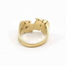 "Load image into Gallery viewer, 14K Yellow Gold ""RJ"" Initial Ring"