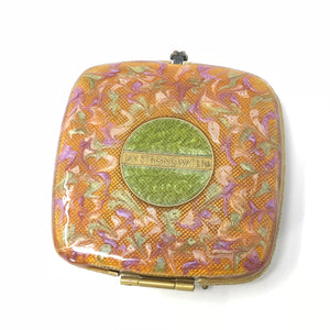 Jay Strongwater Lizard Double Compact Mirror Swarovski Crystal Case