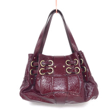 Load image into Gallery viewer, Jimmy Choo Crinkled Small Burgundy Patent Leather Tote