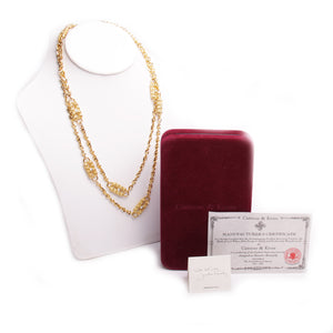 Camrose & Kross Gold Tone and White Stone Replica Jacqueline Kennedy's Necklace