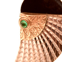 Load image into Gallery viewer, Circle Gallery 14 Karat Gold and Sterling Silver Wings of Victory Earrings 14K