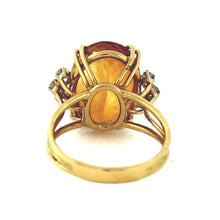 Load image into Gallery viewer, 14K Gold 10.00ctw Citrine & Diamond Cocktail Ring - Sz. 10