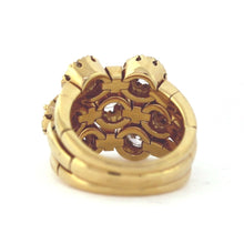 Load image into Gallery viewer, Vintage 14K Yellow Gold 1.50ctw Fashion Diamond Triple Shank Cluster Ring - Sz. 4¾