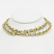 Load image into Gallery viewer, Whiting and Davis Mariner Chain Link Gold Electro Plated Necklace