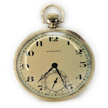 Load image into Gallery viewer, Antique Hamilton Open Face 14K Gold Pocket Watch