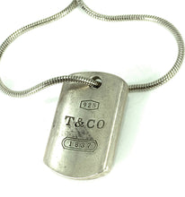 Load image into Gallery viewer, Vintage Tiffany & Co. 1837 Tag Pendant Necklace