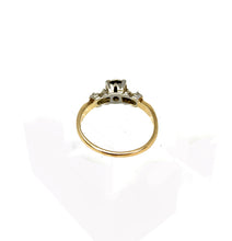 Load image into Gallery viewer, Vintage 1940s .20ctw Diamond Illusion set Engagement Ring in 14K 2-Tone Gold