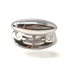 Load image into Gallery viewer, Cartier Double C Logo Cufflinks 0.64ctw Diamonds 18K White Gold