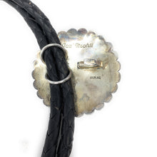 Load image into Gallery viewer, Vintage 1960's Sterling Silver Onyx Braided Concho Belt - Signed by Taa' Ttsohii