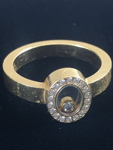 Chopard Happy Diamond 18KT Yellow Gold Oval Ring