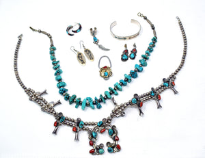 Southwestern / Native American Sterling Silver & Turquoise Jewelry (LOT)