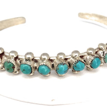 Load image into Gallery viewer, Vintage Native American Kingman Turquoise Cuff Bracelet