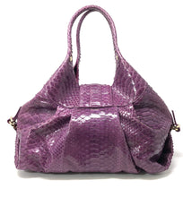 "Load image into Gallery viewer, Bvlgari ""Chandra"" Purple Python Hobo Shoulder Bag"