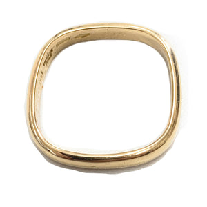 Vintage GUCCI Mens 18K Yellow Gold Square Wedding Band - Sz. 11.5
