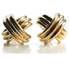 Load image into Gallery viewer, Tiffany & Co 18K Yellow Gold Signature X Earrings