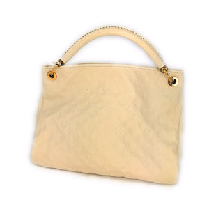 Louis Vuitton Monogram Empreinte Artsy MM Neige Hobo Bag, Creme