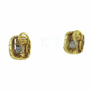 Selden Gang 18K Yellow Gold 0.18ctw Diamond Round Cut Clip Earrings