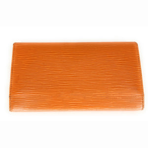 LOUIS VUITTON Epi Leather Porte Tresor International Wallet - Orange
