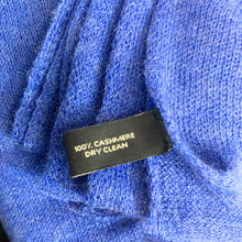 Load image into Gallery viewer, DILLARD's 100% CASHMERE Scarf BLUE - NEW in Box