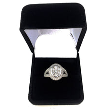 Load image into Gallery viewer, 14K White Gold 1.00ctw Split Shank Halo Diamond Engagement Ring - Sz. 6¾