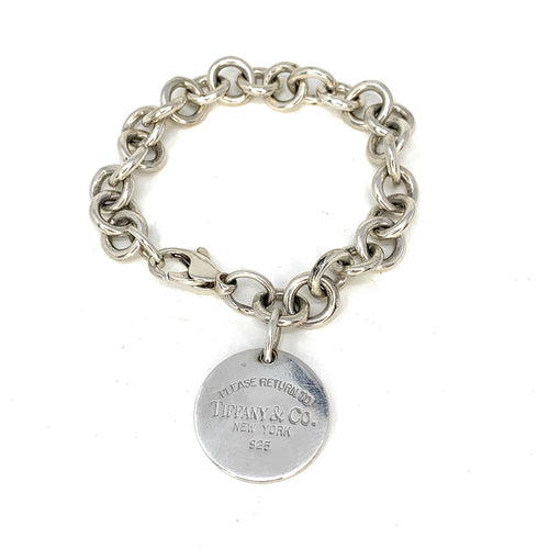 5d394840c Tiffany & Co. Sterling Silver Return To Tiffany Round Tag Bracelet