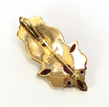 Load image into Gallery viewer, Sajen Offerings Goddess 18k Yellow Gold Garnet Ruby Pin/Pendant