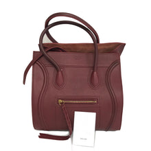 Load image into Gallery viewer, Celine Phantom Luggage Medium Bag Calfskin Leather Burgundy Shopping Tote