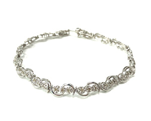 10k White Gold Diamond Bracelet
