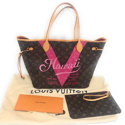 Louis Vuitton Neverfull Limited Edition Hawaii MM Leather