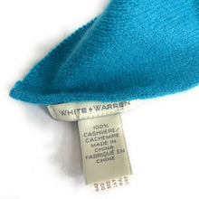 Load image into Gallery viewer, White + Warren Turquoise Cashmere Travel Wrap Scarf