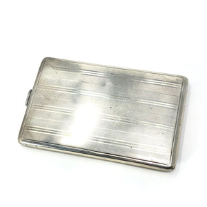 Antique R Blackington Co Model Sterling Silver Cigarette Case