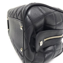 Load image into Gallery viewer, Chanel Black Quilted Caviar Leather Timeless Classics Bowler Bag