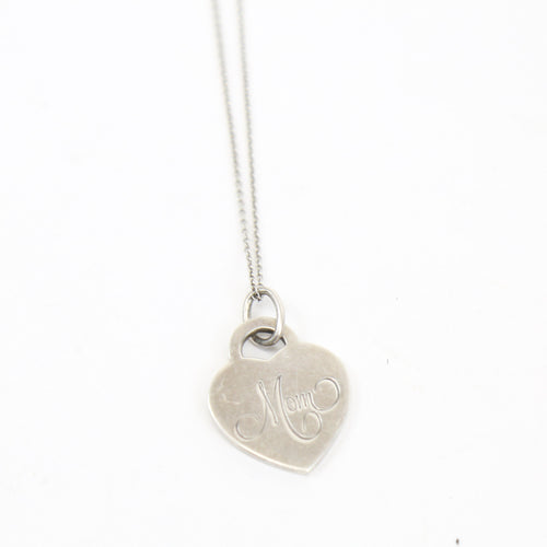 Tiffany & Co Sterling Silver Necklace with Heart Pendant