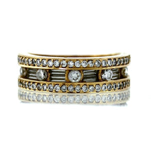 Load image into Gallery viewer, 14K Yellow Gold Men's 1.00ctw 1/2 Eternity Diamond Wedding Ring - Sz. 7