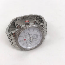 Load image into Gallery viewer, Michele Womens Watch Ascalon Stainless Steel Watch with Diamond Bezel